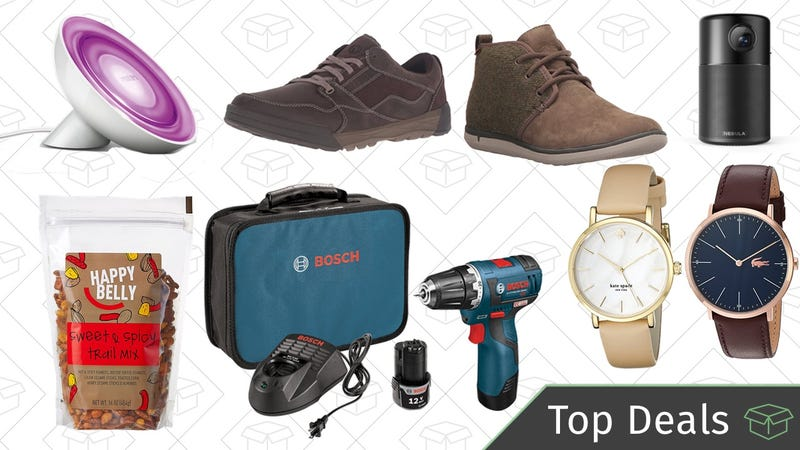 Illustration for article titled Wednesday's Top Deals: Philips Hue Light, Bosch Drills, Watch Gold Box, and More
