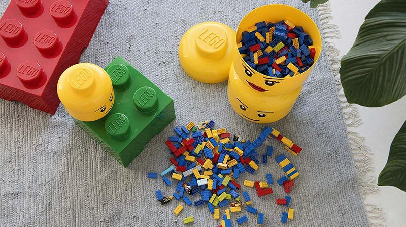 LEGO Storage Head   $16   Amazon   Choose no-rush shipping at checkout