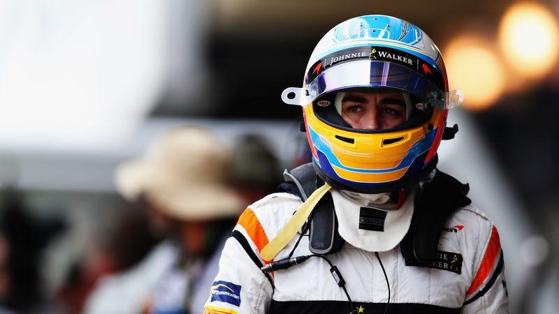 Fernando Alonso at the F1 Brazilian Grand Prix. Photo credit: Dan Istitene/Getty Images