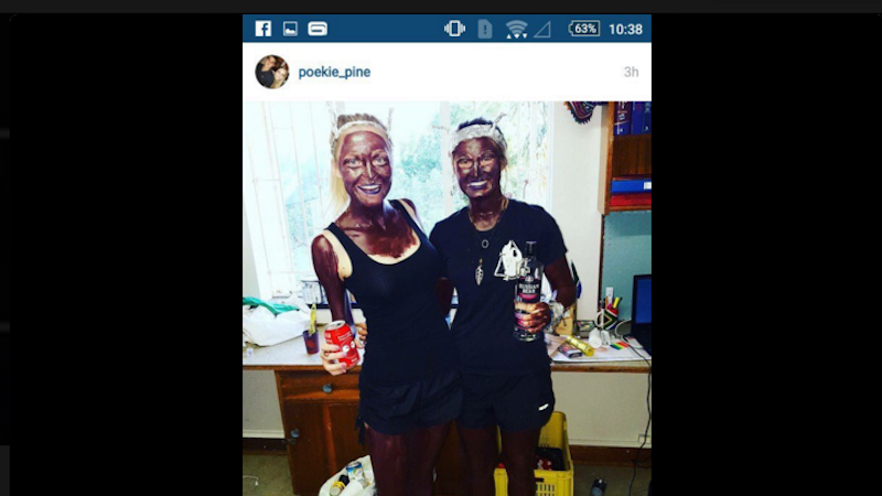 Illustration for article titled Two White Students in South Africa Suspended for Wearing Blackface They Claim Was 'Purpleface'