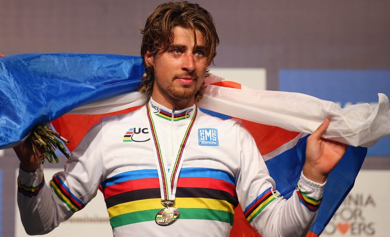 Peter Sagan  - 2018 Light brown hair & edgy hair style.