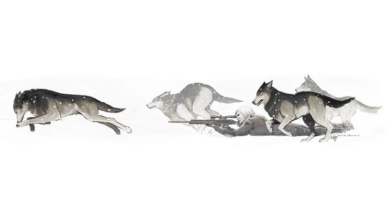 Illustration for article titled She's Just Running With The Wolves, Man
