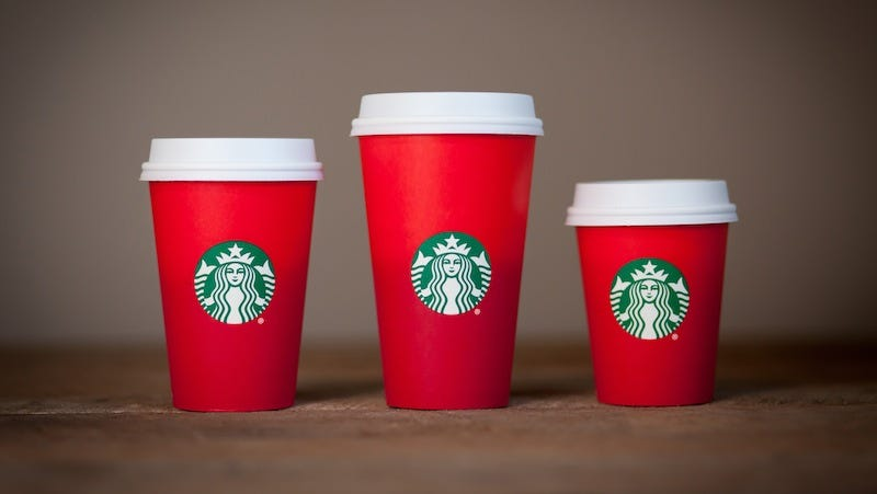 Illustration for article titled Christians Angry Over Starbucks' Minimalist Holiday Cup Design