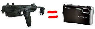 Illustration for article titled Pixels for Pistols Trades Guns for Digital Cameras