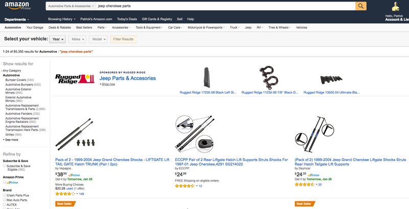 Illustration for article titled Amazon Is Cranking Up Its Auto Parts Sales To Fight With The Major Chains