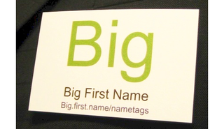 Illustration for article titled Print name tags in bulk with Big.first.name