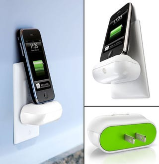 Illustration for article titled WallDock iPhone Charger Boosts Battery On the Down Low