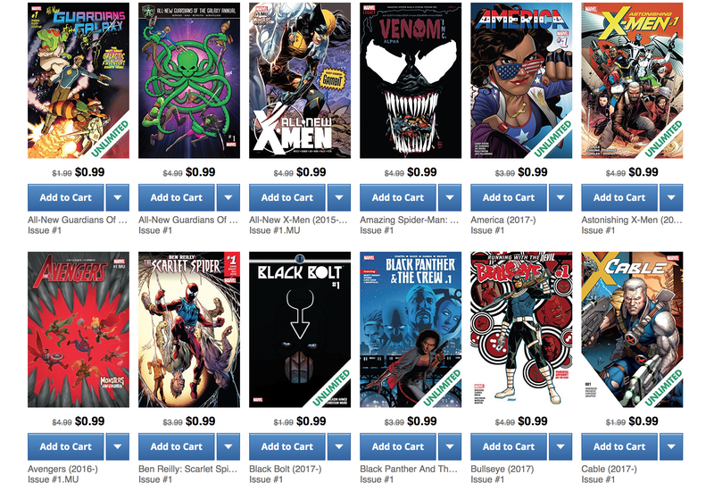 Marvel First Issue Sale | Comixology