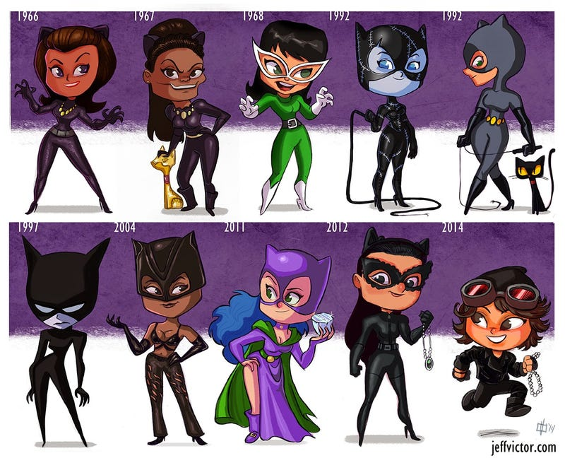 Illustration for article titled The Evolution Of Catwoman Is Adorable