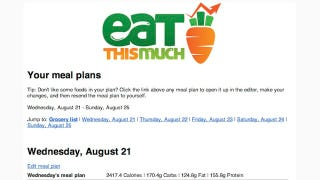 Eat This Much Automatically Builds Meal Plans and Menus for Any Diet