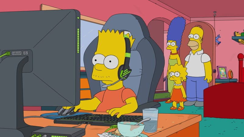 Illustration for article titled Bart's Esports career makes for an intriguing but disappointing Simpsons family journey