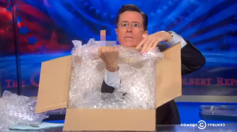 Illustration for article titled Colbert Gives Amazon the Finger For Shady Book Selling Tactics