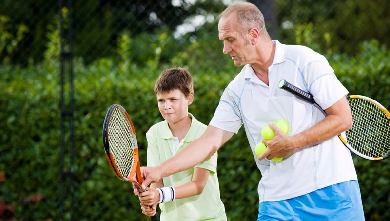 Illustration for article titled Tennis Instructor Mentoring Young Player Sees Potential In Parents' Income