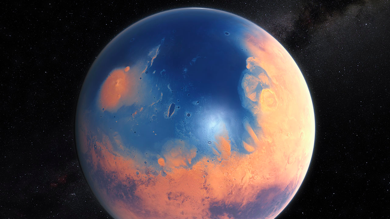 Mars once hosted a large ocean in its northern hemisphere. (Image: ESO/M. Kornmesser/N. Risinger)