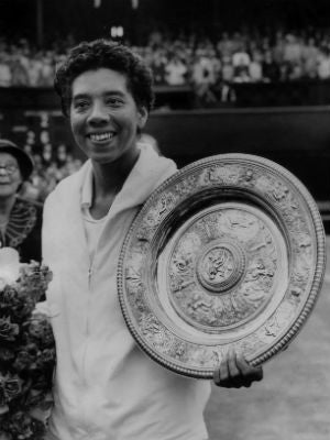 There's no record of tennis champ Althea Gibson in the 1940census. (Keystone/Getty Images)