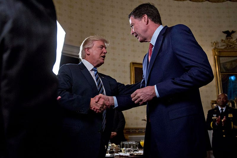 President Donald Trump and now-former FBI Director James Comey (Andrew Harrer-Pool/Getty Images)