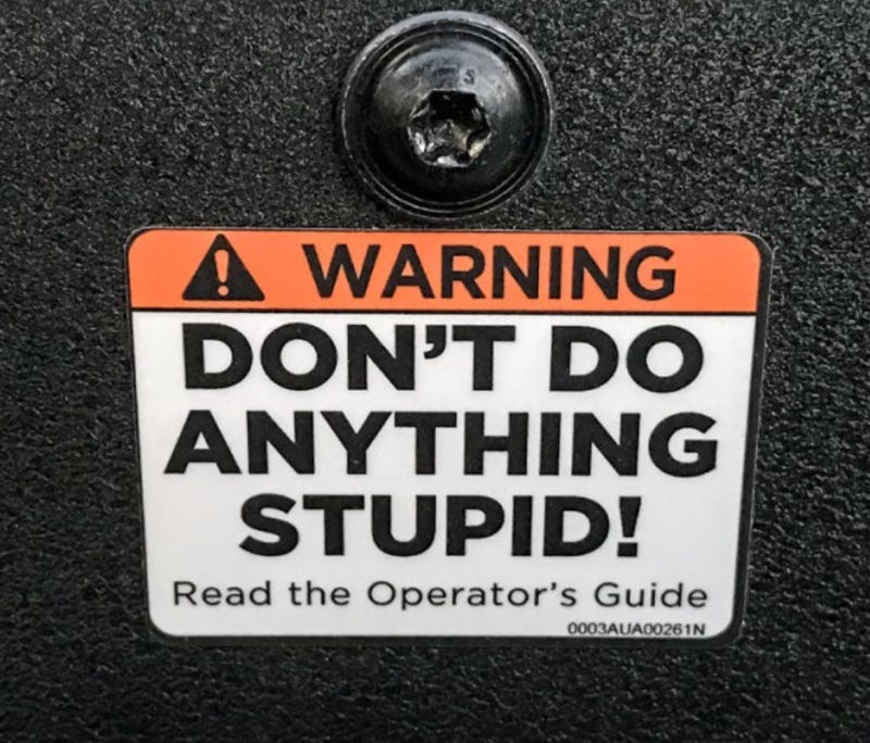 Illustration for article titled The Mahindra Roxor has the world's all time greatest warning label: