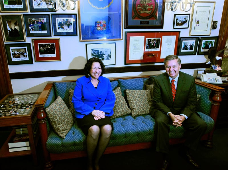 Judge Sotomayor meeting with Sen. Lindsay Graham  (Photo by Mark Wilson/Getty Images)
