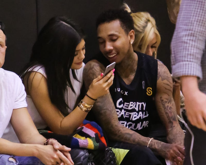 Kylie Jenner and Tyga at a celebrity basketball event May 30, 2015, in Los AngelesPaul Archuleta/FilmMagic