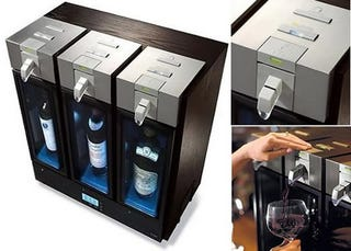 Illustration for article titled Skybar Mechanical Wine Dispenser is a Shade Classier Than a Box of Franzia