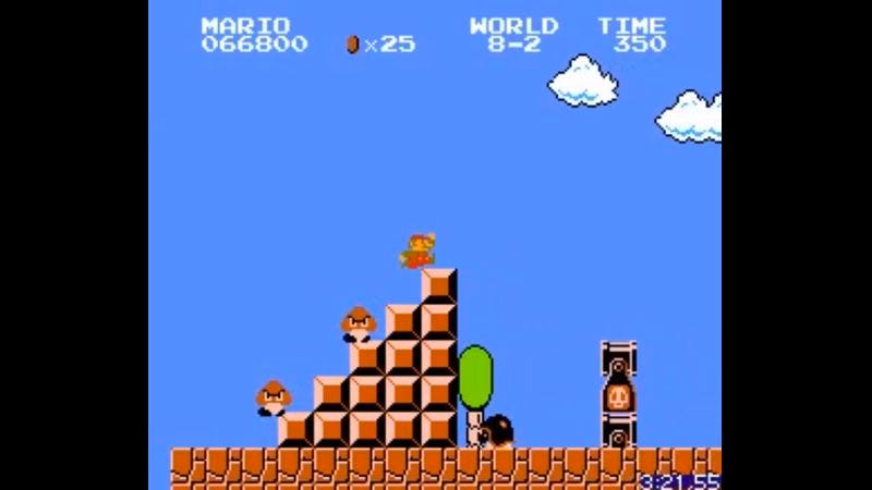 Illustration for article titled Watch a player break the world record for fastest Super Mario Bros. completion