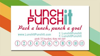 Illustration for article titled Printable Lunch It, Punch It Cards Reward You for Packing Lunches