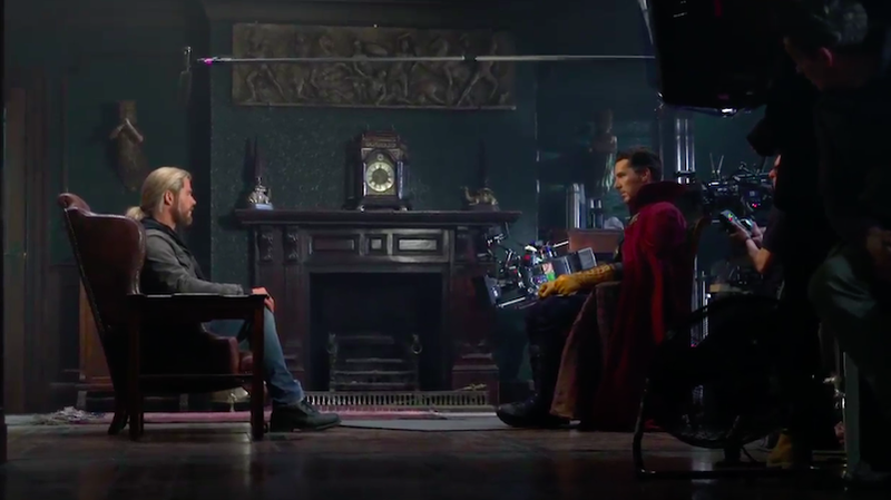 Watch Actors Improv The 'Doctor Strange' End Credits Scene