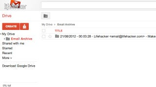 Illustration for article titled Save Gmail Messages and Attachments to Google Drive with This Script
