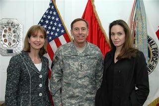 Illustration for article titled Angelina Jolie Backs The Troop Surge!?