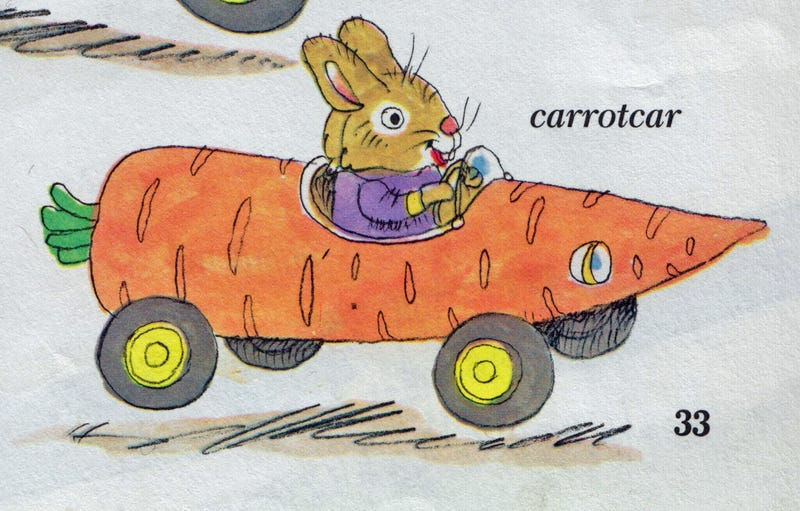 Illustration for article titled Orange - Richard Scarry Edition