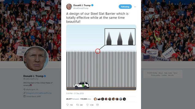 Trump: What If the Border Wall Was Actually a Row of Pointy Sticks