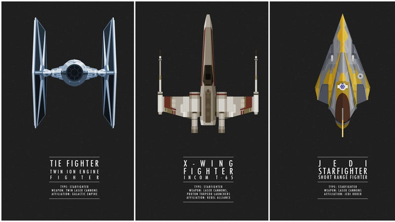 Illustration for article titled Know your Star Wars fighters with these gorgeous posters