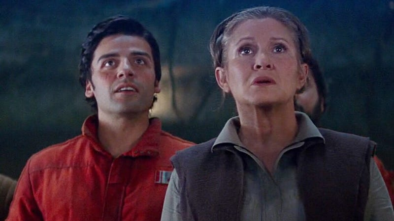 Oscar Isaac Recalls Working With Carrie Fisher On 'The Last Jedi'