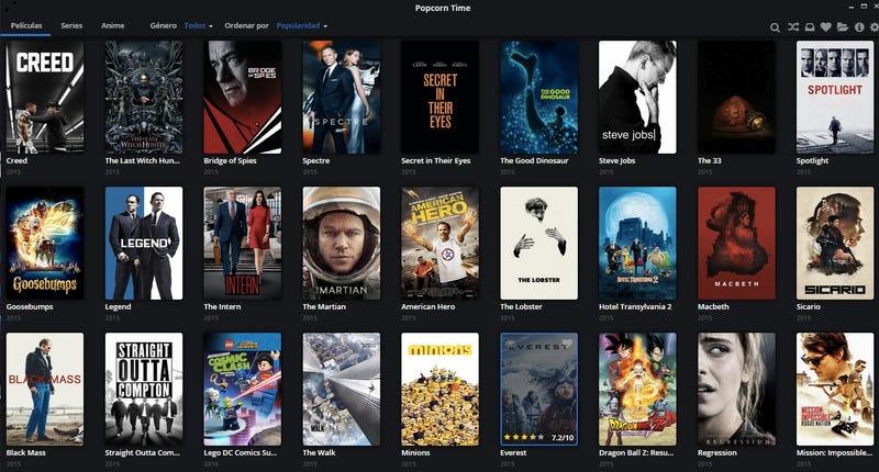 La mejor versión de Popcorn Time está de regreso con una nueva aplicación