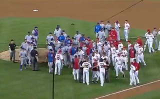 Illustration for article titled The Nationals And Cubs Need To Work On Their Bench-Clearing Brawl Technique