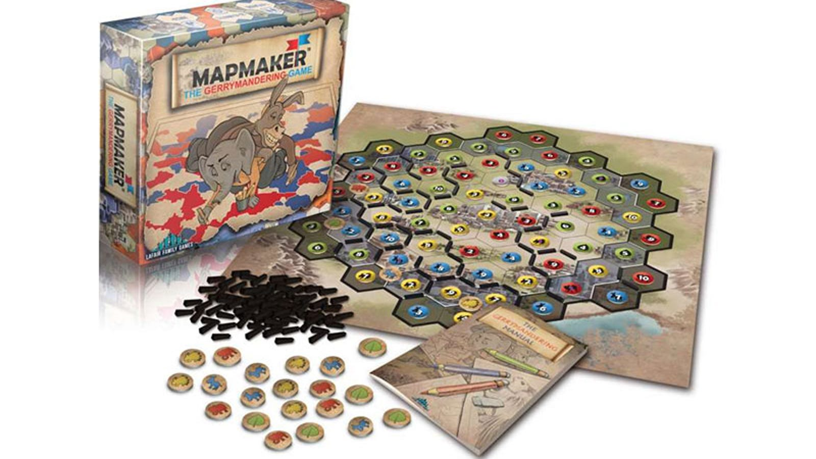 Mapmaker, A Board Game About Gerrymandering And How Terrible It Is