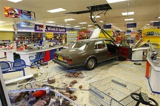 Illustration for article titled Crash Your Rolls Into A Supermarket, Get 16 Months In Jail