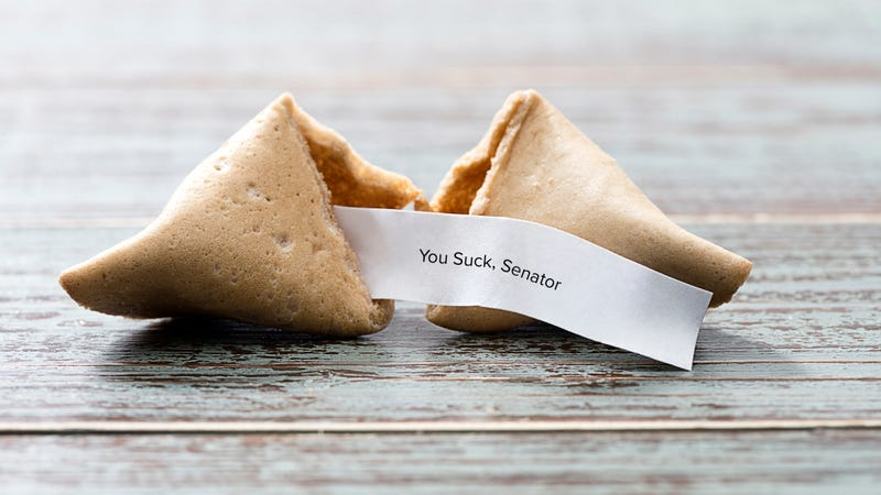 "Illustration for article titled Senator gives ""props for creativity"" to whoever is sending him mean messages in fortune cookies"