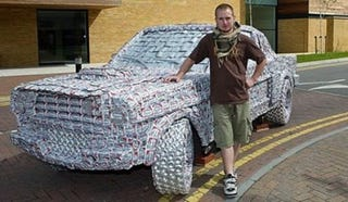 Illustration for article titled Student Builds '65 Mustang from 4,000 Beer Cans