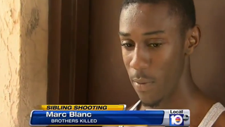 Marc Blanc, who says he witnessed his brothers' deadly confrontationLocal 10 News Screenshot
