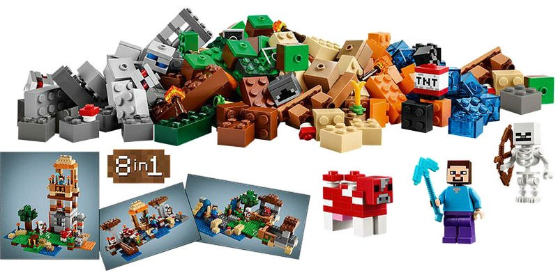 Illustration for article titled Lego prepares Minecraft sets for launch