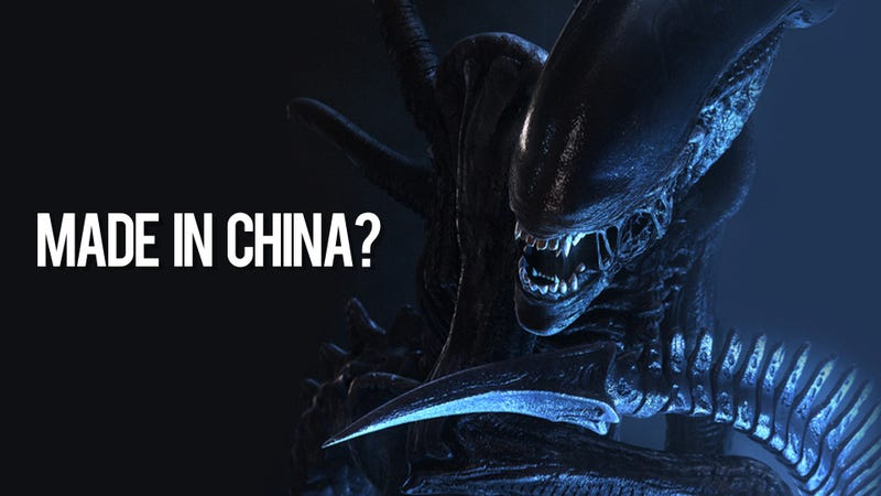 Illustration for article titled The Alien from Aliens Was Originally Chinese, Alleges Flea Market Art Find