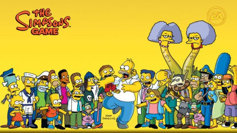 Here's every fake videogame from The Simpsons in one handy supercut