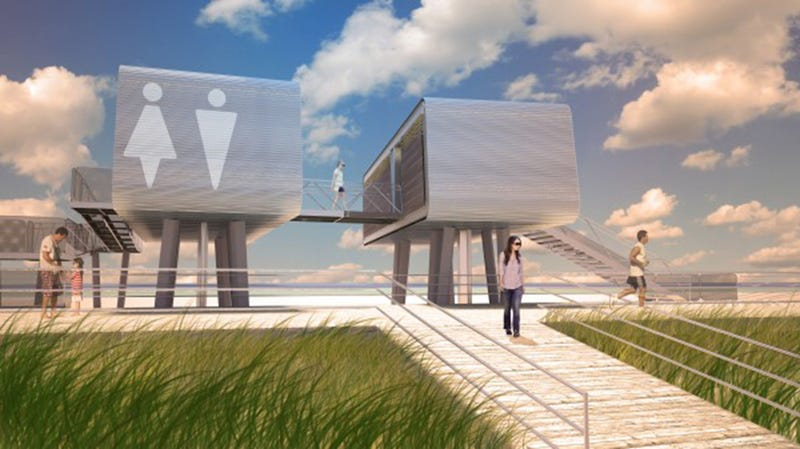Illustration for article titled Modular Beach Pavilions Are Replacing the Ones Hurricane Sandy Ruined