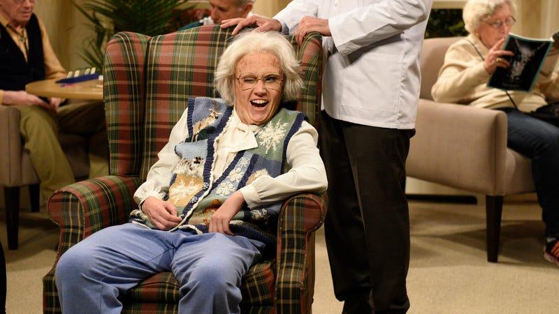 Kate McKinnon in a nursing-home sketch on Saturday Night Live (Photo: Will Heath/NBC)