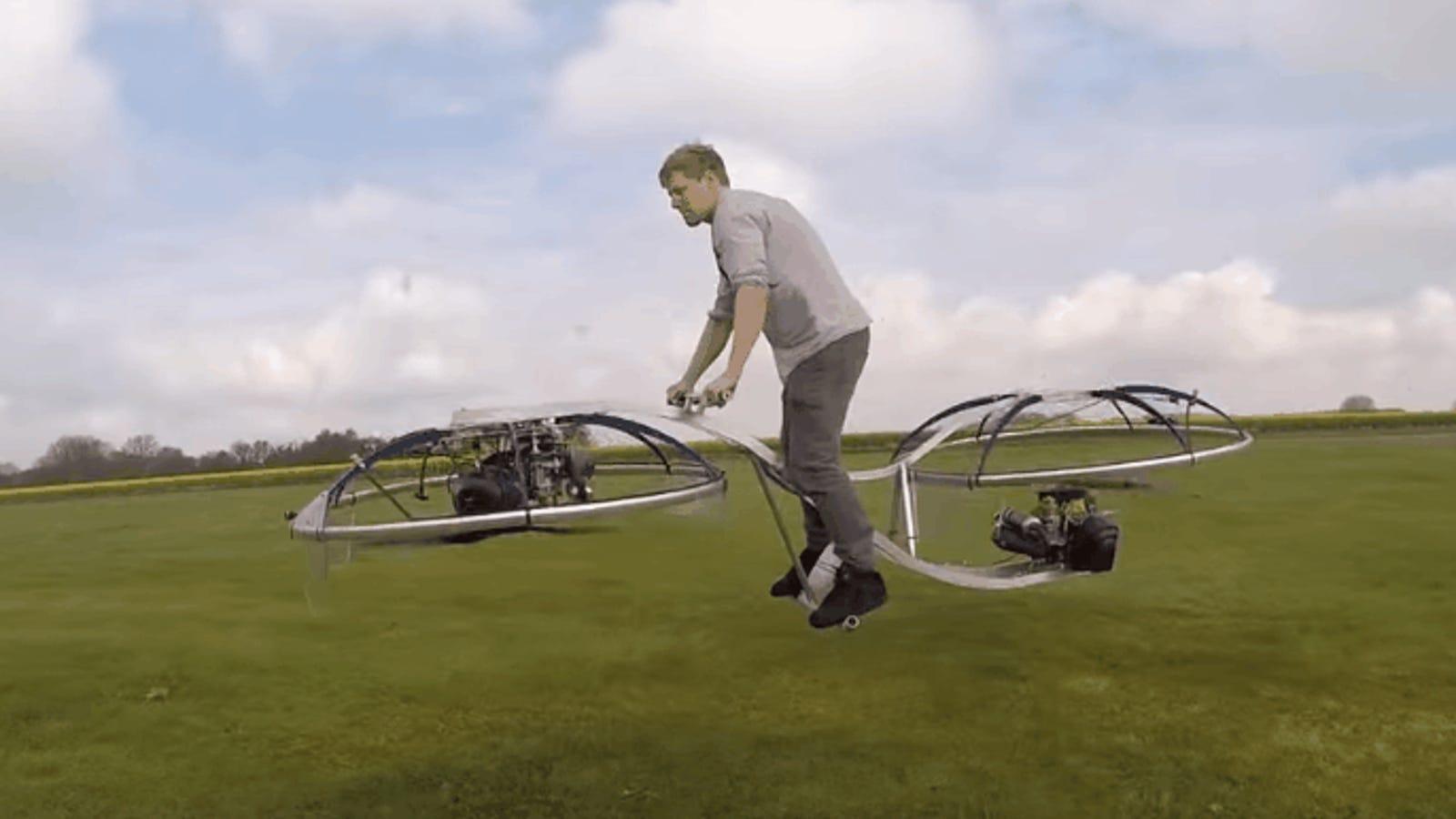 Fabrica una moto voladora casera completamente funcional usando dos ventiladores gigantes