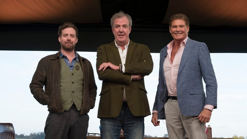 Ricky Wilson, Jeremy Clarkson, and David Hasselhoff. Image: Amazon