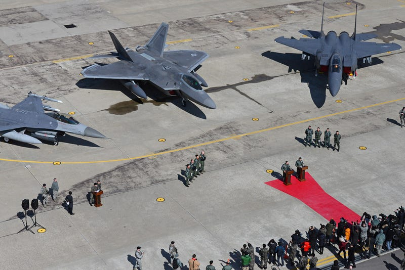Illustration for article titled F-22 Raptors Deploy To South Korea As Tensions Rise Between The North And South