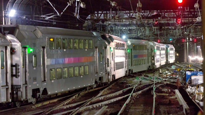 Trains arriving in NY's Penn Station, which would benefit from the Gateway Tunnel project