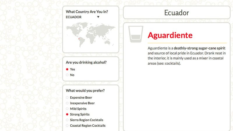 Illustration for article titled This Interactive Guide Helps You Drink Like a Local When You Travel